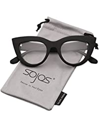 Retro Vintage Cateye Sunglasses for Women Plastic Frame...