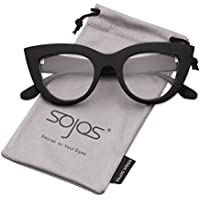 SOJOS Retro Vintage Cateye Sunglasses for Women Plastic Frame Mirrored Lens SJ2939 SJ2040