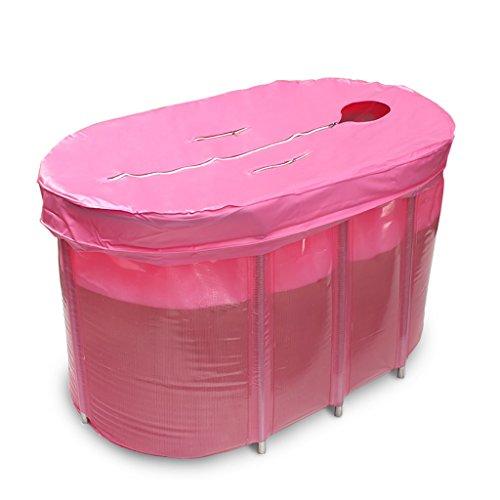 PM YuGang Foldable Inflatable Thick Warm Adults Bathtub, Children Inflatable Pool Bath Tub, Pink by PM YuGang