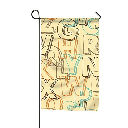 yyoungsell Colored Letters Garden Flag Outdoor Patio Seasonal Holiday Polyester Fiber Flags -