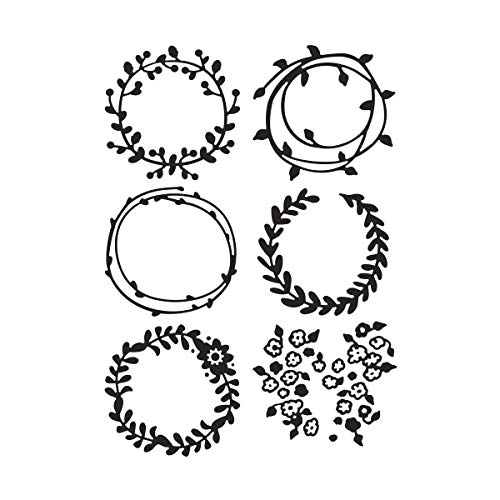 Darice Wreaths (Darice Wreaths, 4.25 x 5.75 inches Embossing Folder, Clear)