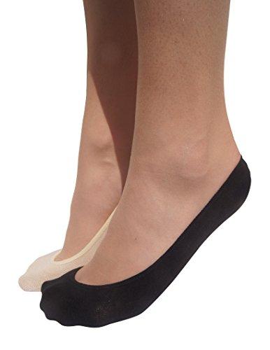 Stomper Joe 4 Pack Premium Cotton No Show Socks for Women, Non Slip, Low Cut, Assorted, XS from StomperJoe