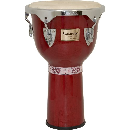 (Tycoon Percussion TJ-713CR Master Classic Series Djembe, Red, 13-Inch)