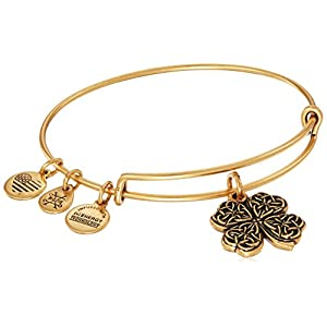 Alex and ANI Four Leaf Clover IV Bangle Bracelet