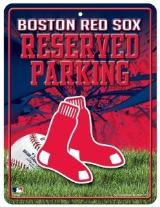 (Boston Red Sox Metal Parking Sign )