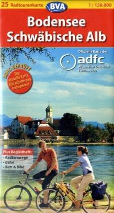 Bodensee /Schwäbische Alb (ADFC-Radtourenkarte 1:150000)