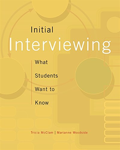 Initial Interviewing: What Students Want to Know (HSE 123 Interviewing Techniques)