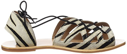 Gioseppo Women's Alia Sandals, Black Multicolour (Beige 81)