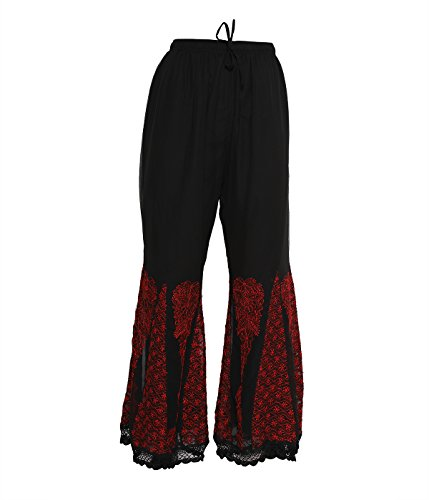 Mujer amp; Leggings Indiankala4u Para Black Red4 AxvOSBq