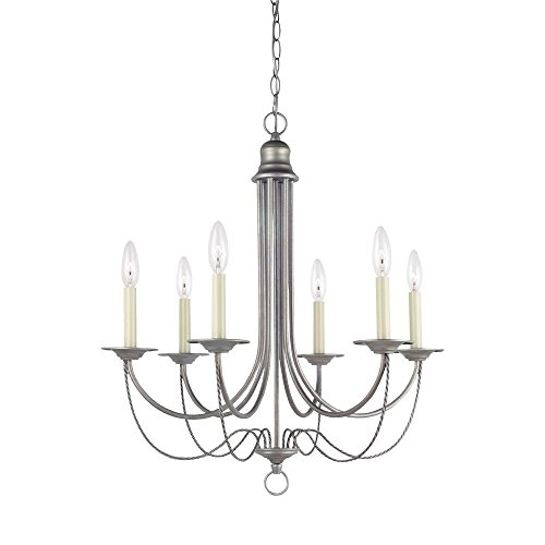 Sea Gull Lighting 31294-57 Weathered Pewter Finished Chandelier