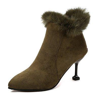 Nubuck Botas EU36 Mujer 5 Casual RTRY Toe De Moda De Botines Cuero Invierno Para Stiletto Bootie Talón Zapatos Vestimenta Botas Verdes Ejército Botines US5 CN35 UK3 Señaló De Del 5 xFxqnzfRw