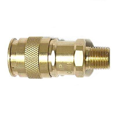 Interstate Pneumatics CG441B 1/4 Inch Universal Brass Coupler 1/4 Inch Male NPT