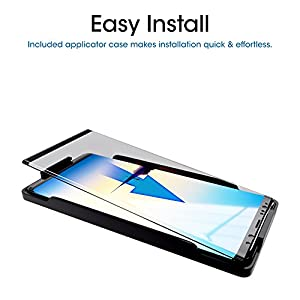 Galaxy Note 8 Screen Protector Glass (Full Screen Coverage)(Easy Installation Tray), amFilm Dot Matrix 3D Curved Samsung Galaxy Note 8 Tempered Glass Screen Protector 2017