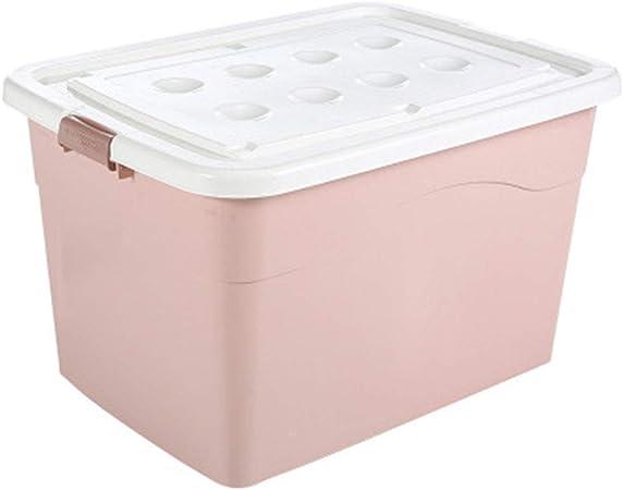 HAOJINFENG Caja de Almacenamiento de Ropa de plástico con Ruedas IKEA Caja de Almacenamiento Alimentos Libros Importantes Documentos, Rosa, 50 L: Amazon.es: Hogar