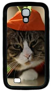 Funny Cat Animal Custom Designer Samsung Galaxy S4 Case and Cover - TPU - Black