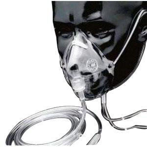 Salter Labs Sa8110 Adult Elongated Mask With 7' Tubing, Elastic Strap Style,Salter Labs - Each 1