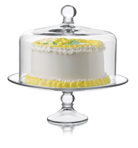 Libbey Selene Cake Dome 2-Piece Set, Clear