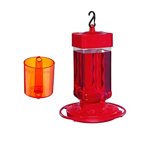 Cheap First Nature 3055 Hummingbird Nectar Feeder with a 3306 Ant Barrier 32 oz.