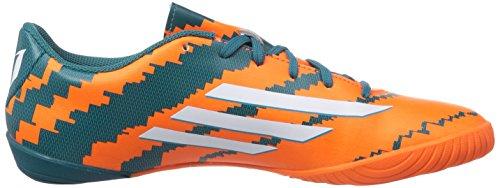 adidas Messi 10.3 In - Botas de fútbol Hombre Power Teal F14/Ftwr White/Solar Orange