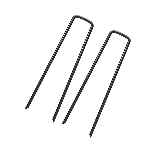 100 Picchetti Ancore a Terra - 150 x 25 x 3,0 mm - graffette da giardino picchi di terra di acciaio per il tessuto… 1 spesavip