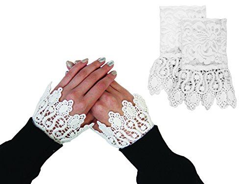 Floral Layered Lace Cuff Stretch Bracelet