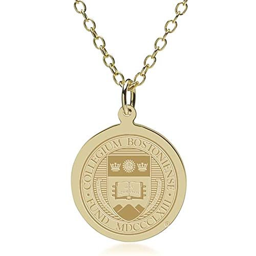 M. LA HART Boston College 14K Gold Pendant & Chain ()