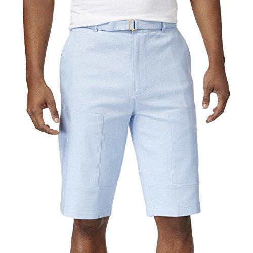 Sean John Mens Linen Flight Casual Shorts Blue 36 by Sean John