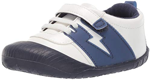 Ro + Me by Robeez Boys' Alex Athletic Sneaker Crib Shoe, Navy, 12-18 Months