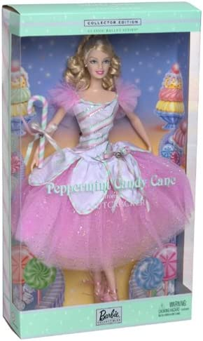 Barbie Peppermint Candy Cane Doll The Nutcracker Classic Ballet Collector Edition 2002 Mattel 57578