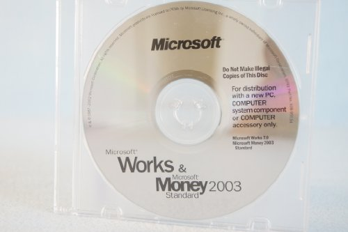 Microsoft Works & And Money 2003 Standard PC Computer Program Software Part Number #X08-95534 Comes with Original Authentic COA