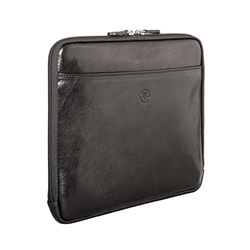 Maxwell Scott Luxury Black Leather iPad Sleeve (The Luzzi) - One Size by Maxwell Scott Bags (Image #2)