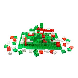 Strictly Briks Building Bricks and Blocks Set | Big Briks Holiday | 100% Compatible with All Major Brick Brands | 84 Pieces