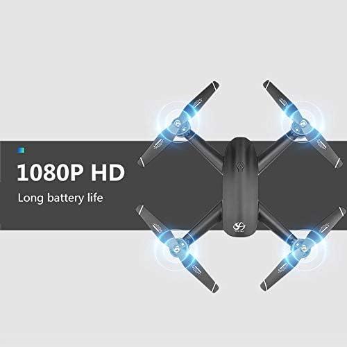 YWXFX Drone 4K HD caméra 1080p positionnement de Flux Optique Double caméra Dron GPS quadrotor Drone 25 Minutes Durable pliable-4K Pixels HD