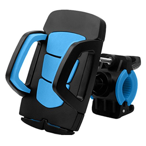 Fypo Bike Phone Mount,Bicycle Holder Universal Cradle Clamp for iOS Android Smartphone, Boating, GPS, Other Devices, with One-button Released, 360 Degrees Rotatable