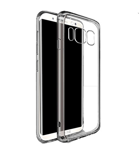 A Trading Galaxy S8 Case, Slim Transparent Hybrid PC Panel Bumper Case Samsung Galaxy S8 (Smoke Black)