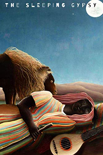 Henri Rousseau Artwork - The Sleeping Gypsy: Blank Notebook Unruled - Original Artwork by Henri Rousseau (1897)