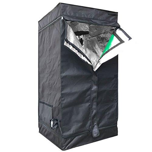 """Cheap Hongruilite 24""""x24""""x48"""" 36""""x20""""x63"""" 32""""x32""""x63"""" 48""""x24""""x60"""" 48""""x24""""x72"""" 48""""x48""""x78"""" 96""""x48""""x78"""" Hydroponic Indoor Grow Tent Room w/Plastic Corner (24""""X24""""X48"""" w/Green Window)"""