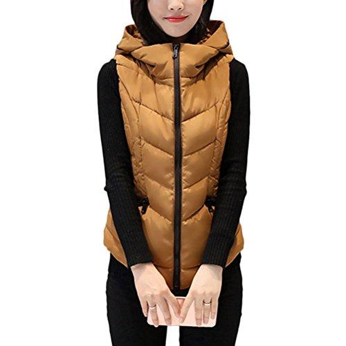 返済フェンス個人Zhuhaitf 暖かく保つ Winter Comfortable Down Jacket Vest Korean Style of the Clip Short Style Hood Slim Fit for Women