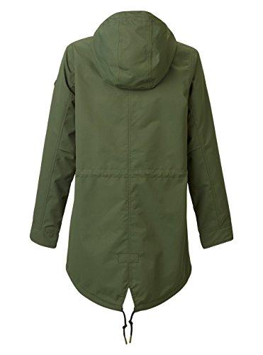 Donna Burton Sadie Verde Militare Giacca Jacket vw1wtxC