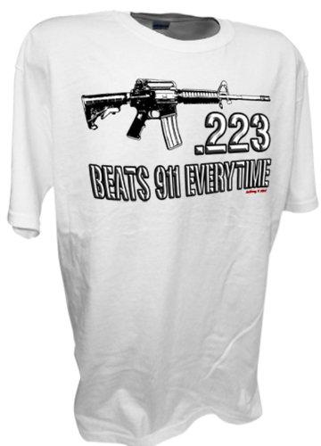 223 Caliber Assault Rifle Ar15 M16 Ak47 Colt 45 1911 Pro Guns Firearms 9mm Tee By Achtung T Shirt LLC (Rifles 45 Colt)