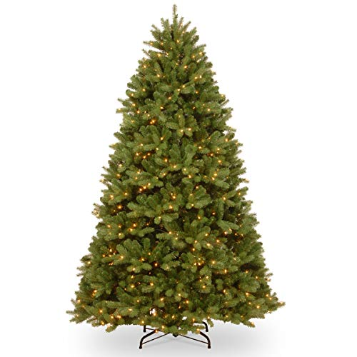 National Tree 7.5 ft. PowerConnect(TM) Newberry Spruce with Dual Color LED Lights Green -  ADULT