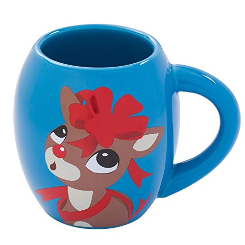 Rudolph The Red Nosed Reindeer 18 Oz. Festive Christmas Oval
