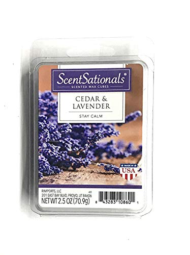 ScentSationals Scented Wax Cubes (2.5 oz, Cedar & Lavender)