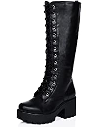 Amazon.com: Platform - Knee-High / Boots: Clothing, Shoes & Jewelry