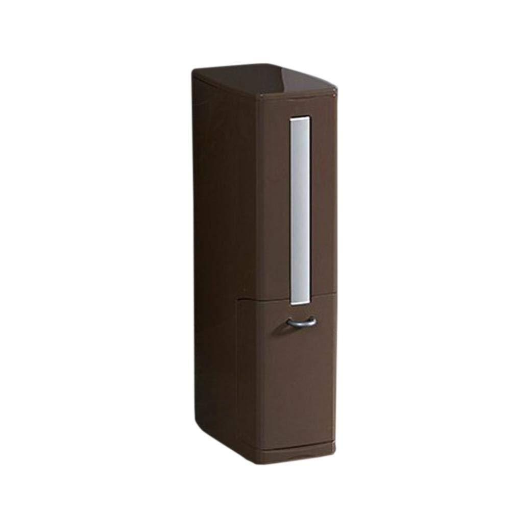 Lelestar Papelera para escobilla de Inodoro pl/ástico ABS, aleaci/ón de Aluminio, Incluye Caja de Almacenamiento Blanco
