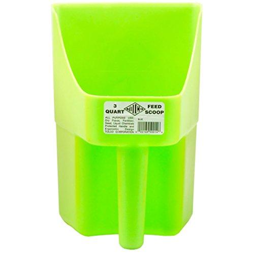 Tolco Heavy-Duty Plastic Scoop, 3 quart, Neon Green