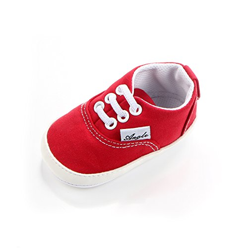 MiYuebb Baby Boys Girls Canvas Rubber Sole Non-Slip Sneakers First Walkers Candy Shoes