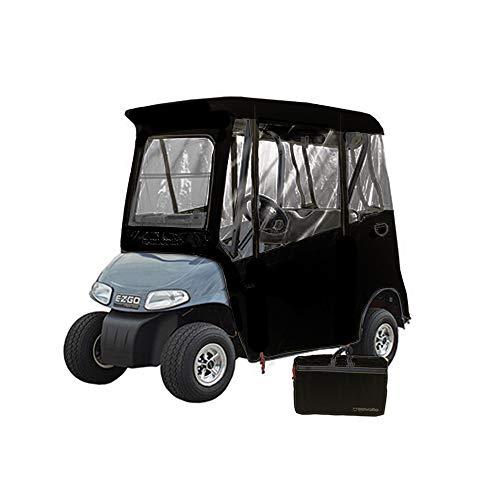 GreenLine EZ-GO Golf Cart Enclosure by Eevelle, 2 Passenger Heavy Duty 300D (Ez Go Golf Cart Enclosure)