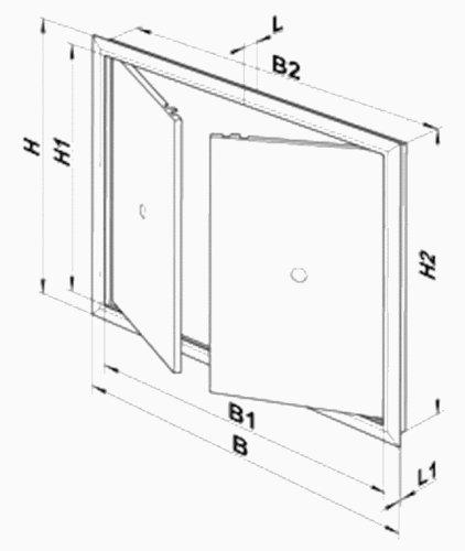 de pl/ástico ABS Panel de acceso 2 puertas 5010555122794