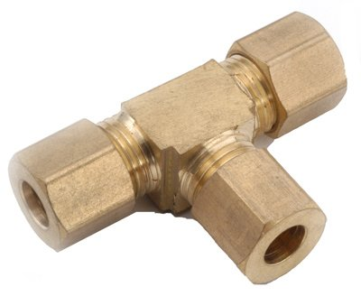 Anderson Metals 750064-06 Compression Tee, Brass, 3/8-In. - Quantity 5